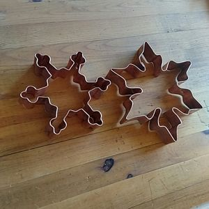 """Copper Heavy Quality Snowflake Cookie Cutters 4/6"""""""
